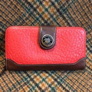 Dooney Vintage Red & Burnt Cedar Wallet